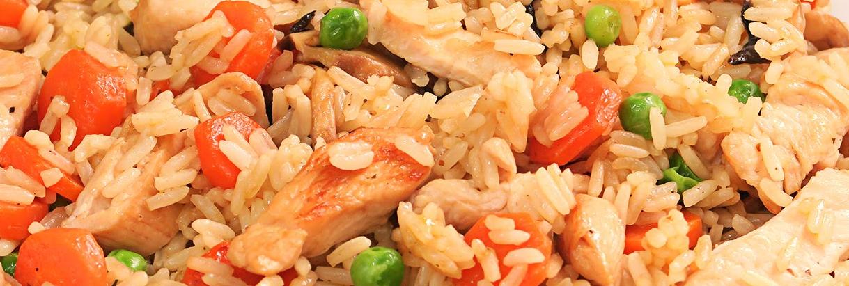 Arroz Chino con verduras y salsa de Soja